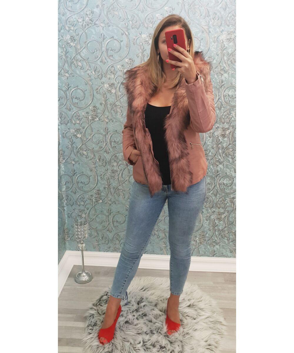 Bélelt szőrmés kabát - AKCIÓS Termékek - Luna Gardrobe Női ruha WebÁruház 419b9515f8