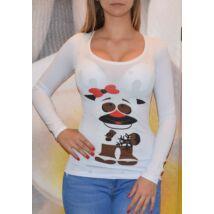 e818379454 Fodros ujjú fagyis felső - Póló / Pulóver - Luna Gardrobe Női ruha ...