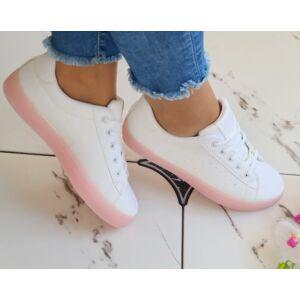 Talpán rózsaszín fűzős cipő