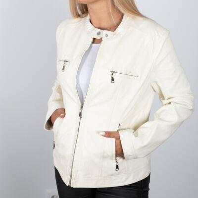 Törtfehér műbőr dzseki