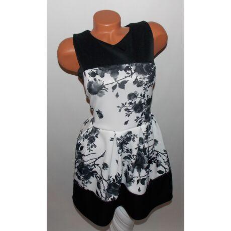 Rózsa mintás deréktól bővülő ruha - Ruha - Luna Gardrobe Női ruha ... 3711723130