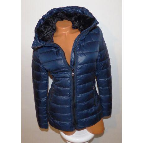 25bd006b9c Sötétkék színű nyakánál prémes kabát - Dzseki / Kabát - Luna ...