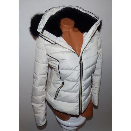 Fekete szőrmés kabát - Dzseki   Kabát - Luna Gardrobe Női ruha ... ff11a1c64f
