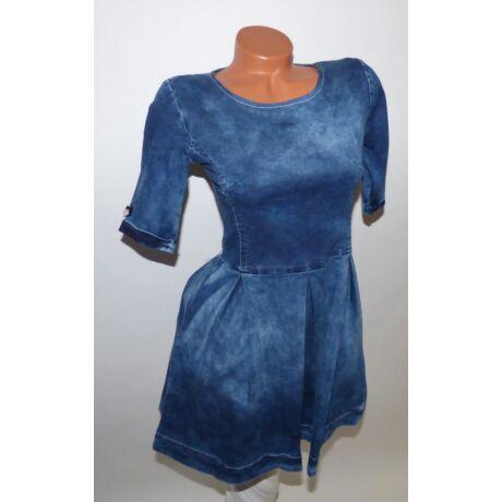 72ded42278 Deréktól bővülő farmer ruha - Ruha - Luna Gardrobe Női ruha ...
