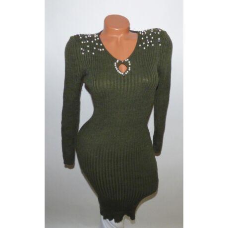 2777091d14d5 Bordázott gyöngy díszítésű ruha - Ruha - Luna Gardrobe Női ruha ...