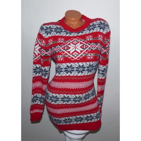 Hosszított norvég mintás pulóver - Póló   Pulóver - Luna Gardrobe ... f3683682f1