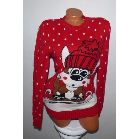 ce556b933e Cuki róka mintás karácsonyi pulóver - Póló / Pulóver - Luna Gardrobe ...