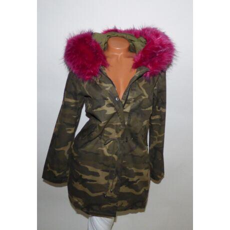 4fcb47cfcf Terepmintás DZSEKI rózsaszín szőrmével - Dzseki / Kabát - Luna ...