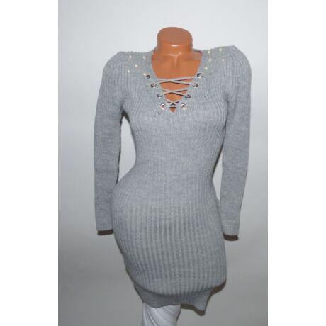 67cb2887ac Bordázott fűzős ruha - Ruha - Luna Gardrobe Női ruha WebÁruház ...