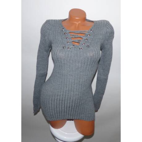 139a441c8d V kivágású kötött pulcsi - Póló / Pulóver - Luna Gardrobe Női ruha ...