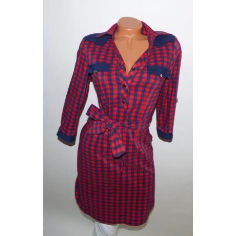 Kockás ing-ruha + öv - Ruha - Luna Gardrobe Női ruha WebÁruház ... 5c181bb23e