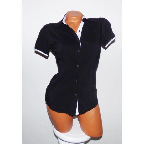 Fehér betétes fekete ing - Póló   Pulóver - Luna Gardrobe Női ruha ... 4d1b50b281