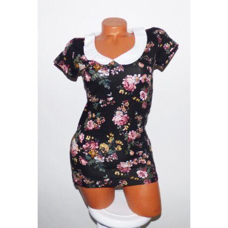 6c875f0c4d Virágmintás galléros felső - Póló / Pulóver - Luna Gardrobe Női ruha ...