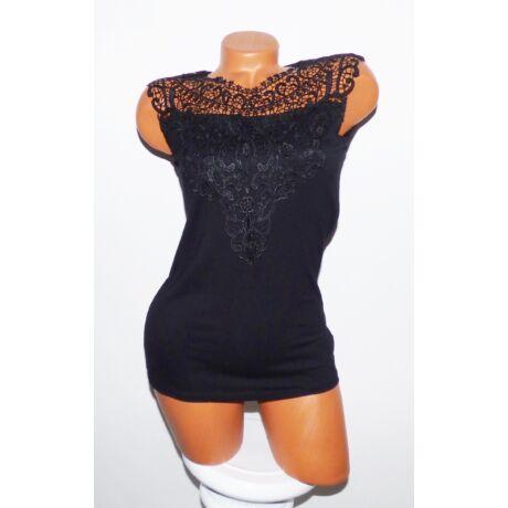 Fekete csipkés felső - Póló   Pulóver - Luna Gardrobe Női ruha ... 829464e0b0