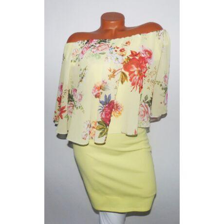 56b56adff Virágmintás muszlin ruha