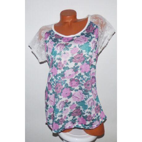 610c7deae2 Virágmintás póló - Póló / Pulóver - Luna Gardrobe Női ruha WebÁruház ...