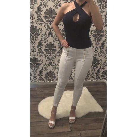 d997e21661 Arany gombos fehér nadrág - AKCIÓS Termékek - Luna Gardrobe Női ruha ...