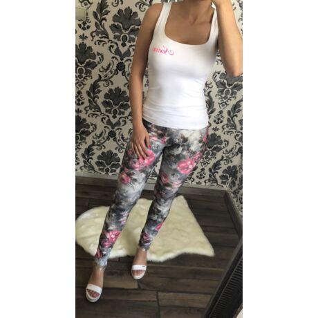 0216fa449a Virágmintás leggings - AKCIÓS Termékek - Luna Gardrobe Női ruha ...