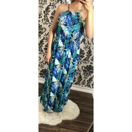Kék virágmintás maxi-ruha - Ruha - Luna Gardrobe Női ruha WebÁruház ... e3e3e9e68b