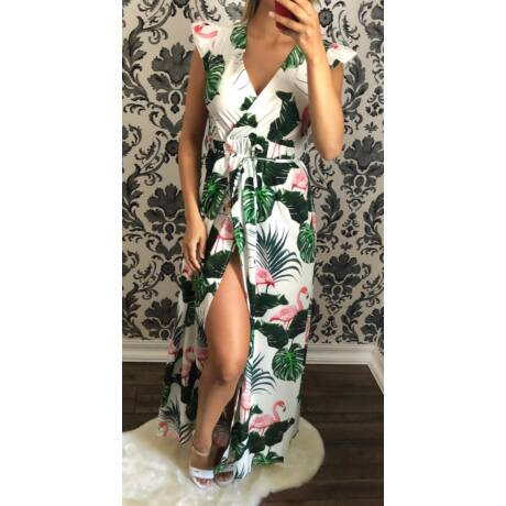 eb91517870 Átlapolós flamingós maxi-ruha - Ruha - Luna Gardrobe Női ruha ...