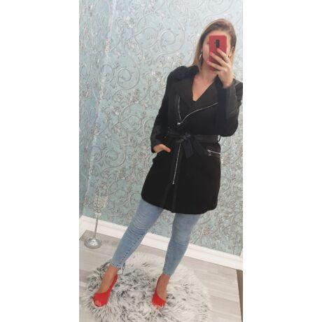 0d40c78844 Hosszított bőrbetétes kabát - Dzseki / Kabát - Luna Gardrobe Női ...