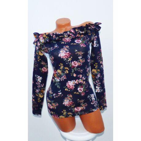 Virágmintás fodros felső - Póló   Pulóver - Luna Gardrobe Női ruha ... 54109d2b19