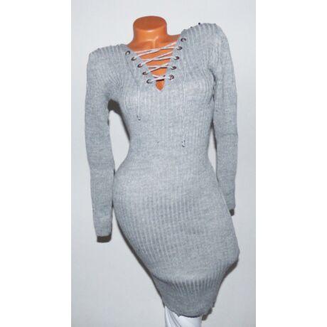 c0dcd3a71e Fűzős, vállán gyöngyös kötött ruha - Ruha - Luna Gardrobe Női ruha ...