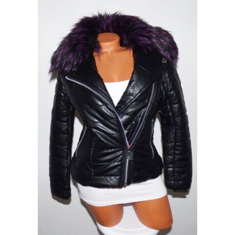 f95f9acef5 Fekete színes szőrmés kabát - Dzseki / Kabát - Luna Gardrobe Női ...