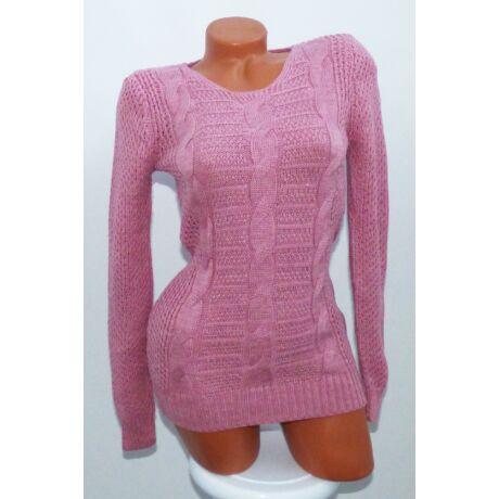 310a6d3b38 Fonott mintás, kötött pulóver - Póló / Pulóver - Luna Gardrobe Női ...