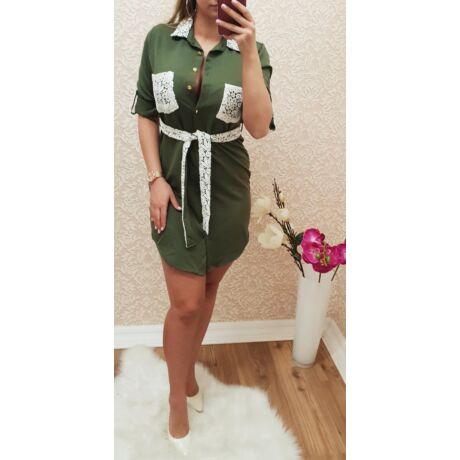 Roll-up ujjas ing-ruha + öv - Ruha - Luna Gardrobe Női ruha ... 7507c68688