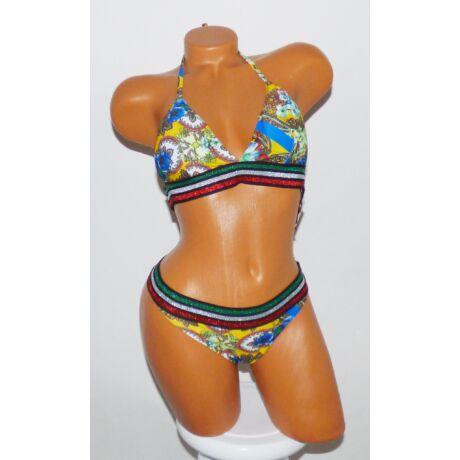 348ae9d97 Háromszög kosaras színes, virágmintás bikini