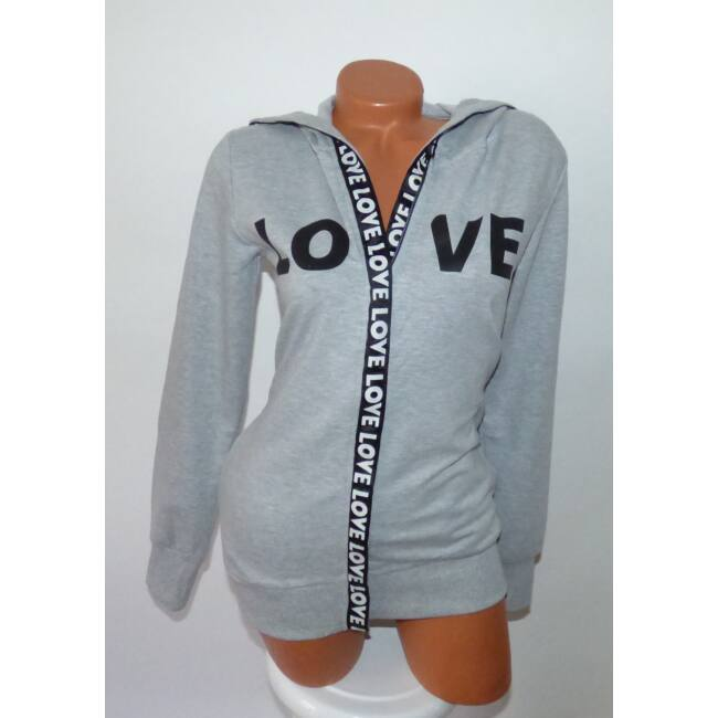 Love feliratos, kapucnis pulcsi