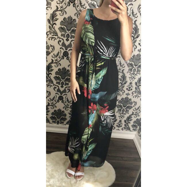 Virágmintás maxi-ruha + öv