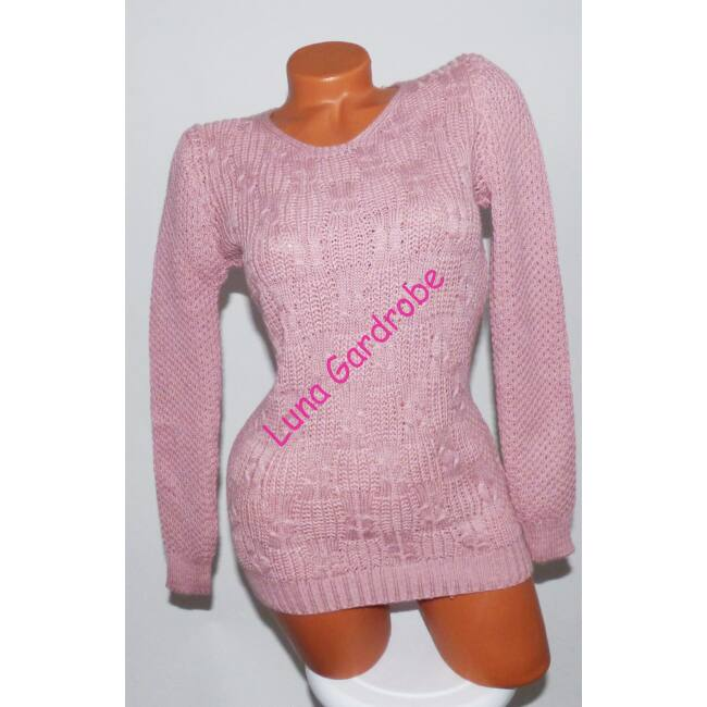 Kerek-nyakú kötött pulóver