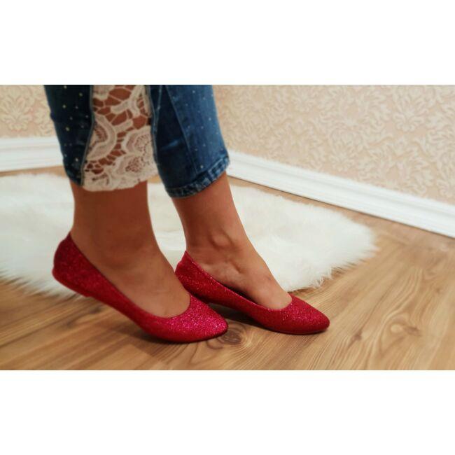 Csillogós balerina cipő