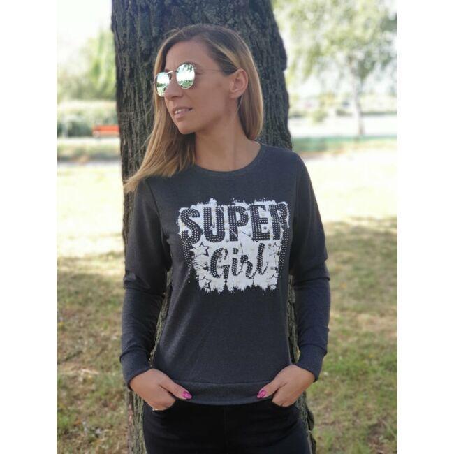 Super girl gyöngyös pulcsi