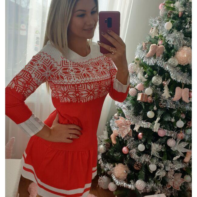 Cuki karácsonyi hópelyhes ruha