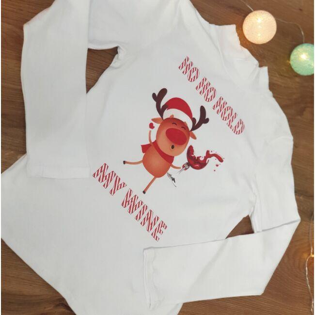 Vicces mintás karácsonyi pulcsi