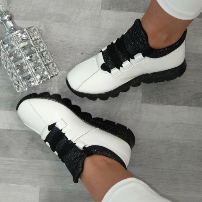 Csillogós vagány cipő