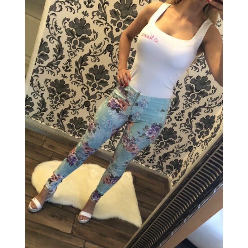Virágmintás leggings
