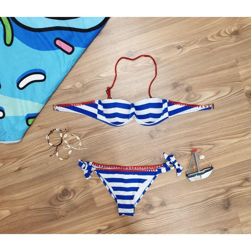 Matrózmintás bikini