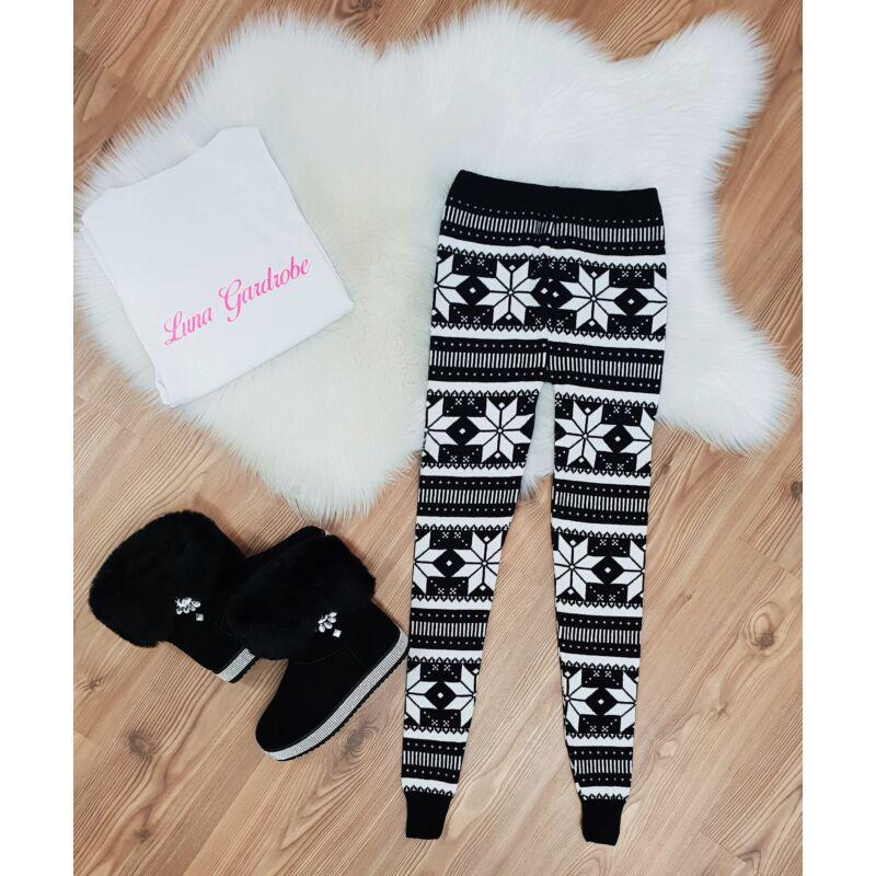 Hópehely mintás karácsonyi leggings