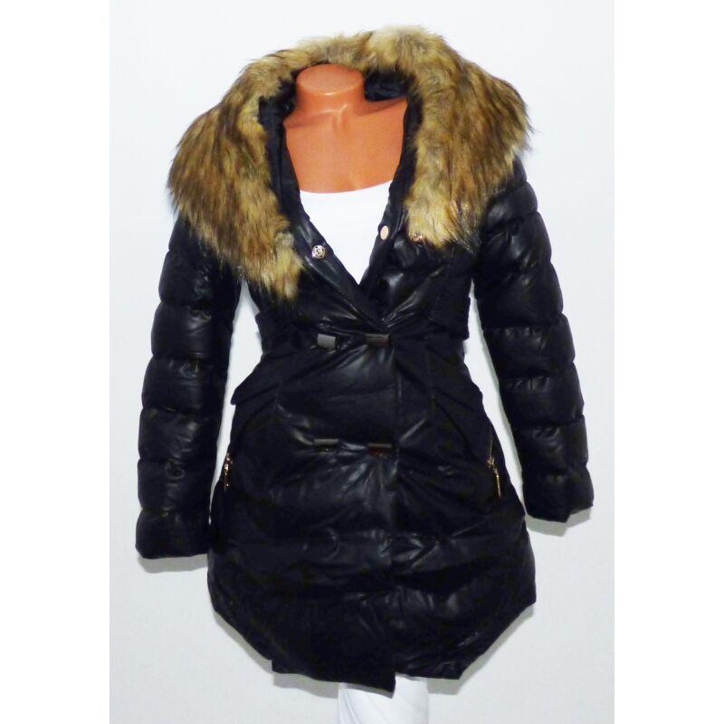 Hosszított szőrmés kabát