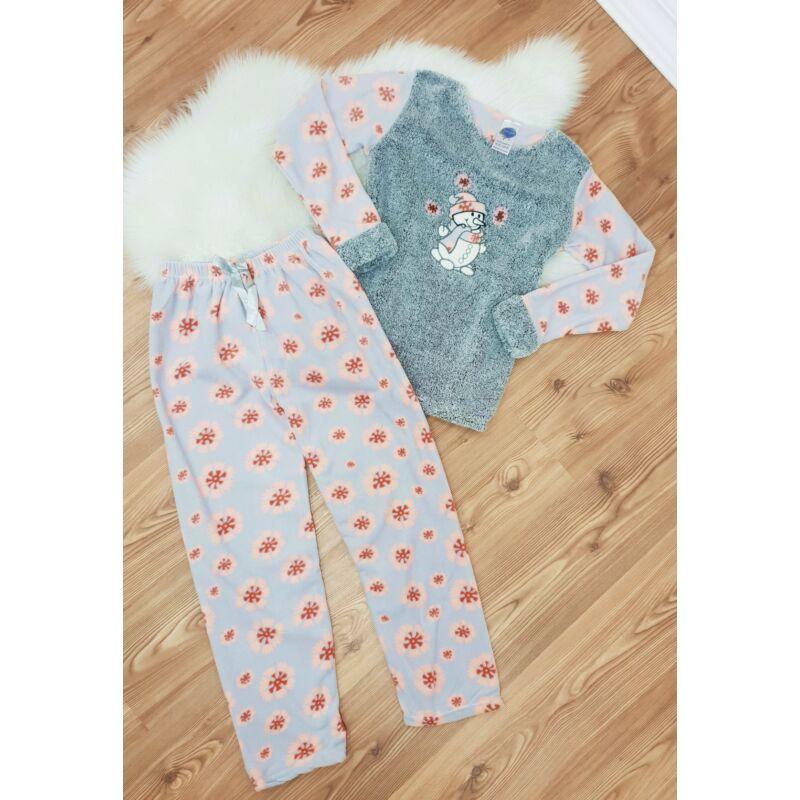 Pihe-puha hóember mintás pizsama