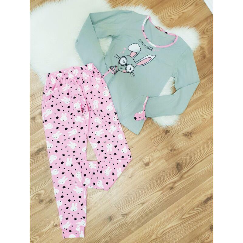 Cuki nyuszis, zsebes pizsama szett