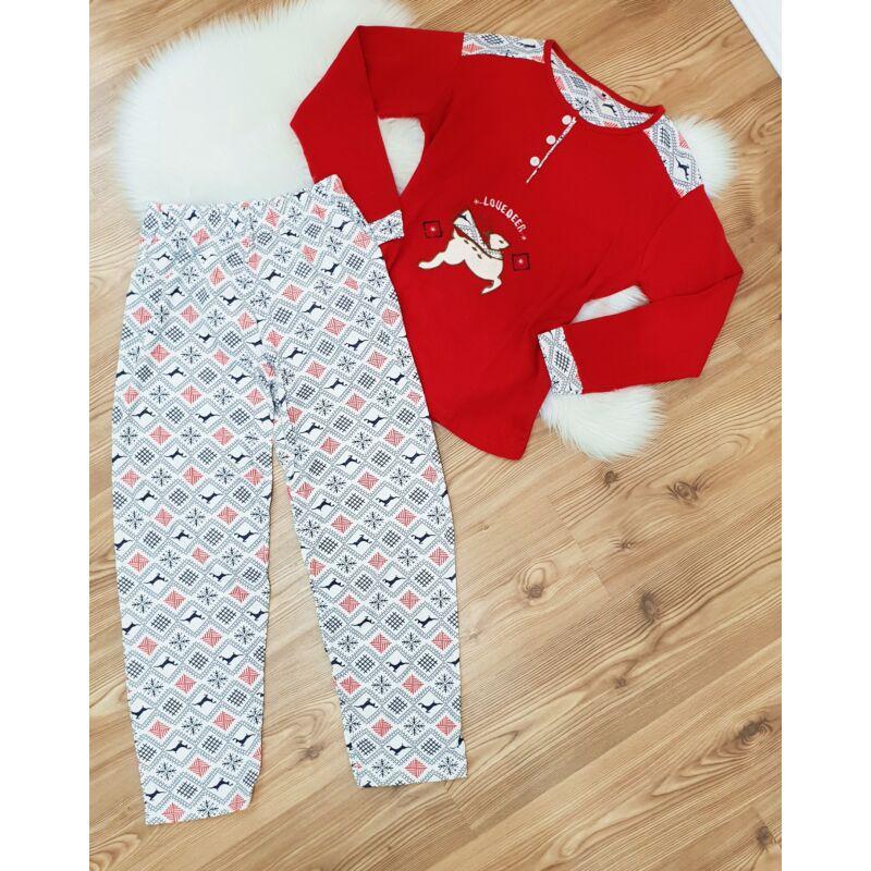 Rénszarvas mintás pizsama szett