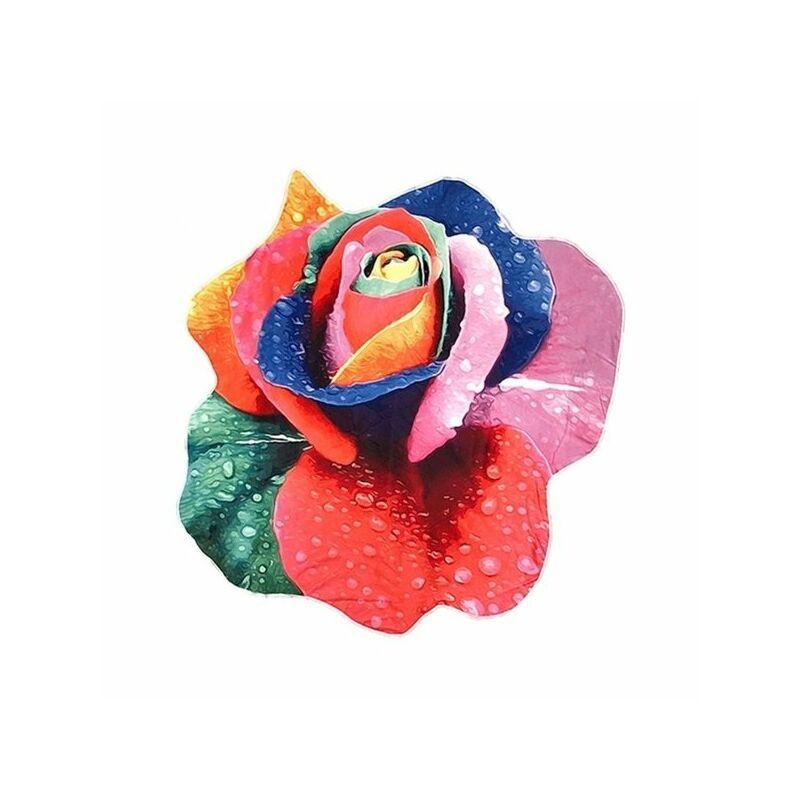 Rózsa strandtörölköző