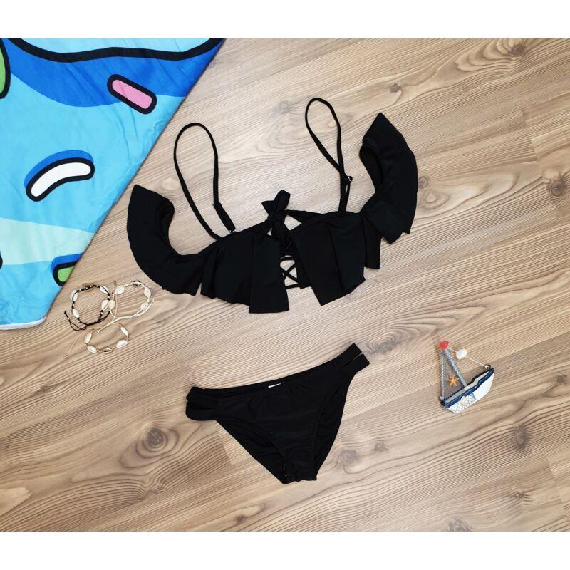 Fodros, fűzős bikini