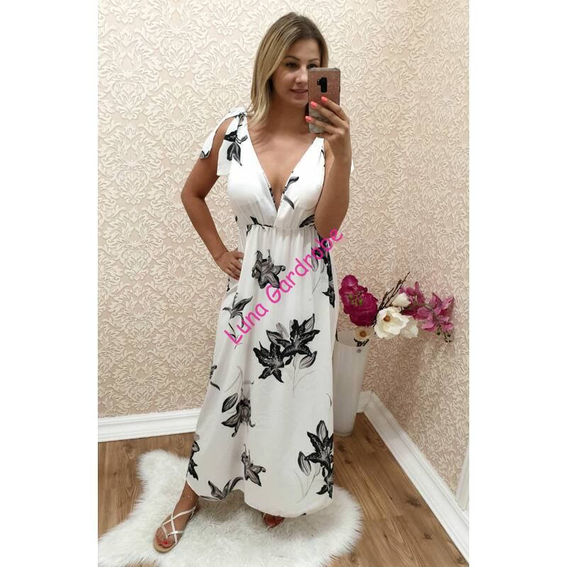 Virágmintás maxi-ruha