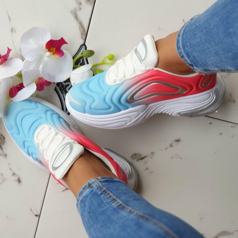 Magasított talpú színátmenetes cipő